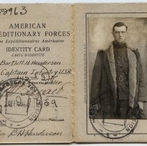 Image of Identity Card for Bartlett H. Henderson