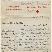 Image of 01_2009.31.50_alice Pratt Carter To Parents_november 29, 1918_page 01