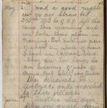 Image of Thomas Shook Diary- Page 021