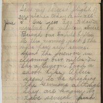 Image of Thomas Shook Diary- Page 024