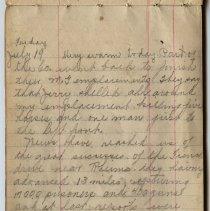 Image of Thomas Shook Diary- Page 058