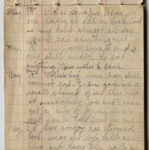 Image of Thomas Shook Diary- Page 009