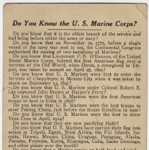 Image of U.S. Marines Recruiting Card