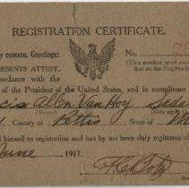 Image of Selective Service Registration Certificate
