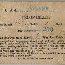 Image of Billet Card