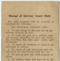 Image of Manual of Interior Guard Duty