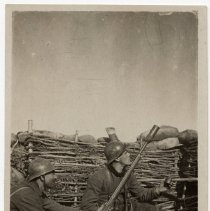 Image of French Soldiers with Rifle Grenade