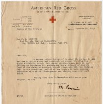 Image of American Red Cross Letter