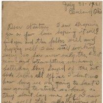Image of 07_2005.162.12_james Bolla To Newton Balog_july 31, 1921_page 01