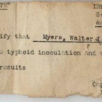 Image of Typhoid Inoculation Certificate