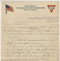 Image of 004_2015.162.4_reid Fields To Parents_may 28, 1918_page 01
