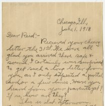 Image of 005_2015.162.4_clara Wrasse To Reid Fields_june 1, 1918_page 01