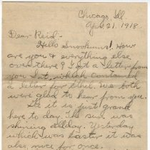 Image of 002_2015.162.4_clara Wrasse To Reid Fields_april 21, 1918_page 01