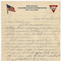 Image of 010_2015.162.4_reid Fields To Parents_june 9, 1918_page 01