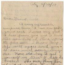 Image of 023_2015.162.4_joe Erustein To Reid Fields_june 23, 1918_page 01