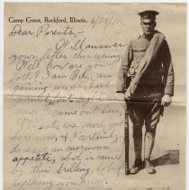 Image of 024_2015.162.4_reid Fields To Parents_june 24, 1918_page 01