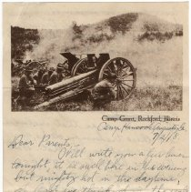 Image of 029_2015.162.4_reid Fields To Parents_july 2, 1918_page 01
