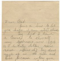 Image of 033_2015.162.4_elwated Eyebrows  To Reid Fields_july 3, 1918_page 01