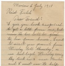 Image of 036_2015.162.4_ms. Phil Meister  To Reid Fields_july 6, 1918_page 01
