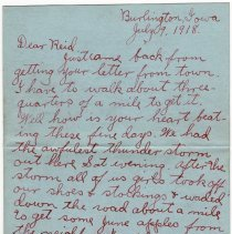 Image of 040_2015.162.4_clara Wrasse To Reid Fields_july 9, 1918_page 01