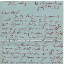 Image of 041_2015.162.4_clara Wrasse To Reid Fields_july 11, 1918_page 01