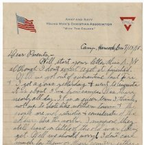 Image of 042_2015.162.4_reid Fields To Parents_july 15, 1918_page 01