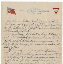 Image of 042_2015.162.4_reid Fields To Parents_july 15, 1918_page 03
