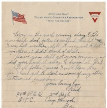 Image of 042_2015.162.4_reid Fields To Parents_july 15, 1918_page 04