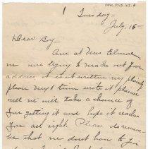 Image of 044_2015.162.4_loretta Truax To Reid Fields_july 16, 1918_page 01