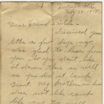 Image of 047_2015.162.4_minnie Specht To Reid Fields_july 19, 1918_page 01