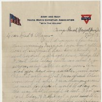 Image of 055_2015.162.4_reid Fields To Parents_july 29, 1918_page 01