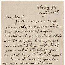 Image of 065_2015.162.4_clara Wrasse To Reid Fields_august 21, 1918_page 01