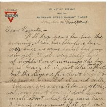 Image of 066_2015.162.4_reid Fields To Parents_august 21, 1918_page 01
