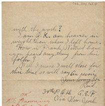 Image of 066_2015.162.4_reid Fields To Parents_august 21, 1918_page 04