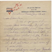 Image of 067_2015.162.4_reid Fields To Parents_august 29, 1918_page 01