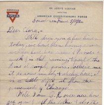 Image of 072_2015.162.4_reid Fields To Clara Wrasse_september 12, 1918_page 01