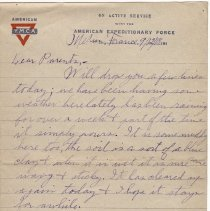 Image of 073_2015.162.4_reid Fields To Parents_september 12, 1918_page 01