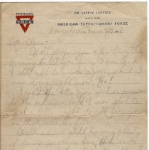 Image of 081_2015.162.4_reid Fields To Clara Wrasse_september 27, 1918_page 01