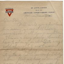 Image of 082_2015.162.4_reid Fields To Parents_september 27, 1918_page 01