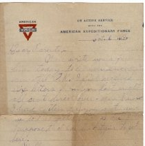 Image of 086_2015.162.4_reid Fields To Parents_october 6, 1918_page 01
