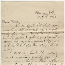 Image of 087_2015.162.4_clara Wrasse To Reid Fields_october 12, 1918_page 01