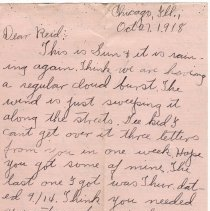 Image of 098_2015.162.4_clara Wrasse To Reid Fields_october 27, 1918_page 01