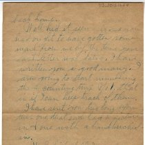 Image of 103_2015.162.4_reid Fields To Clara Wrasse_october 30, 1918_page 02