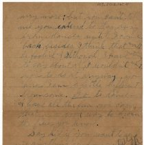 Image of 103_2015.162.4_reid Fields To Clara Wrasse_october 30, 1918_page 06