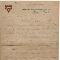Image of 108_2015.162.4_reid Fields To Parents_november 5, 1918_page 01