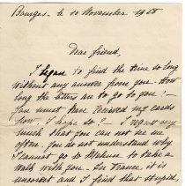 Image of 110_2015.162.4_marthe Hoeheseau To Reid Fields_november 10, 1918_page 01