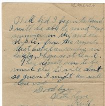Image of 112_2015.162.4_reid Fields To Clara Wrasse_november 11, 1918_page 04