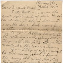 Image of 115_2015.162.4_clara Wrasse To Reid Fields_november 15, 1918_page 01