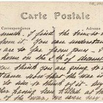 Image of 118_2015.162.4_marthe Hochereau To Reid Fields_november 18, 1918_page 02