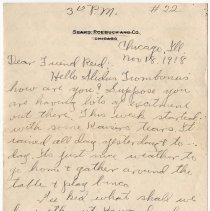 Image of 120_2015.162.4_clara Wrasse To Reid Fields_november 18, 1918_page 01